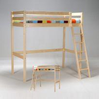 lit mezzanine hauteur 150 cm achat lit mezzanine hauteur 150 cm pas cher rue du commerce. Black Bedroom Furniture Sets. Home Design Ideas