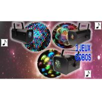 Kool Light - Pack 3 jeux : Xl-flower + Led Color 3 + Sevengobo
