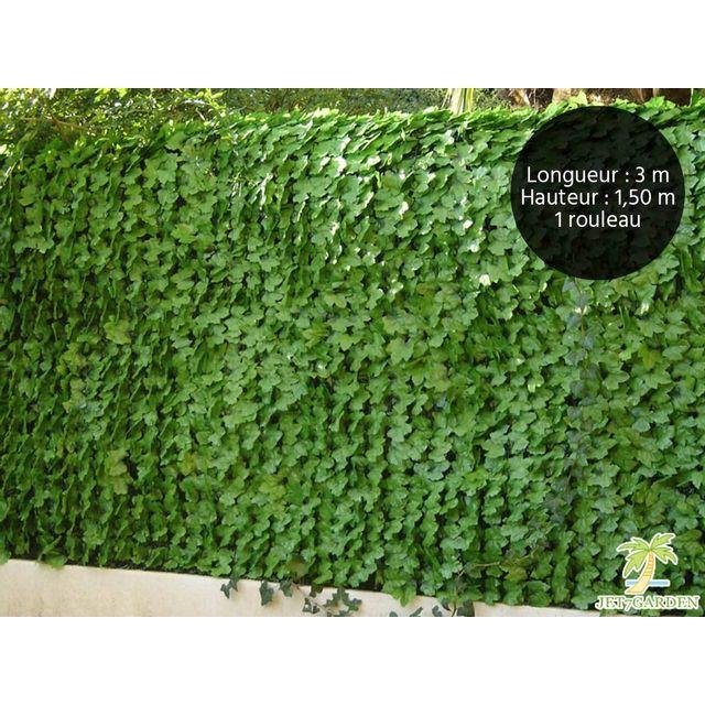 jet7garden haie artificielle feuilles de lierre 18 m 6 rouleaux de 3 x 1 m pas cher achat. Black Bedroom Furniture Sets. Home Design Ideas