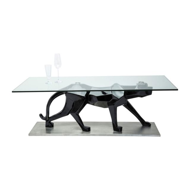 Karedesign Table Basse en verre Black Cat 140x70 cm Kare Design