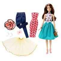 Mattel - Barbie - Barbie brune tenues à combiner