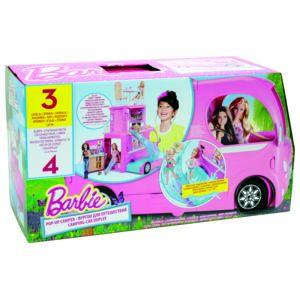 barbie camping car duplex cjt42 pas cher achat. Black Bedroom Furniture Sets. Home Design Ideas