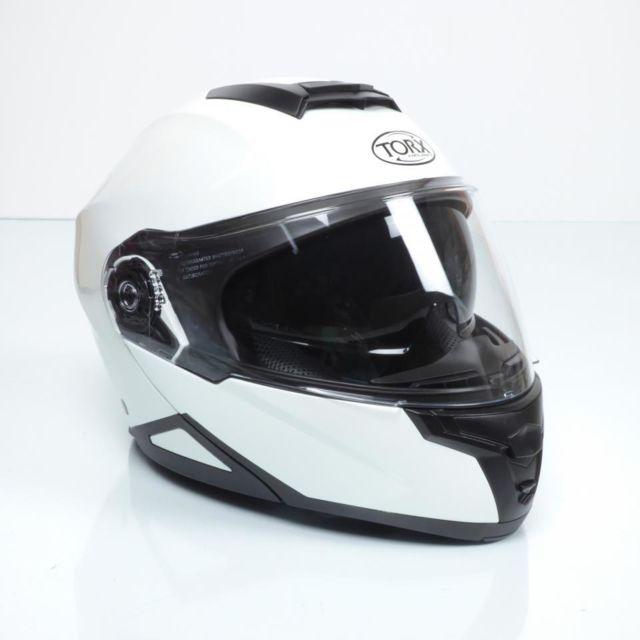 Torx Casque Moto Taille Xxl Neil 2 White Shinny Neuf Pas Cher
