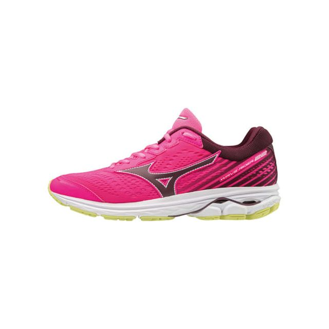 Mizuno Chaussures Wave Rider 22 rose gris femme pas cher