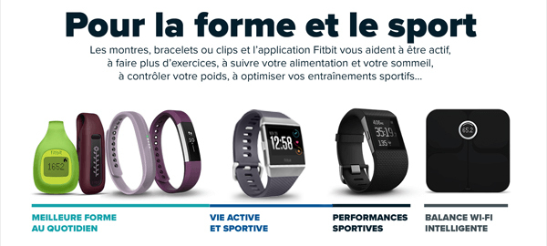 Gamme complète FITBIT