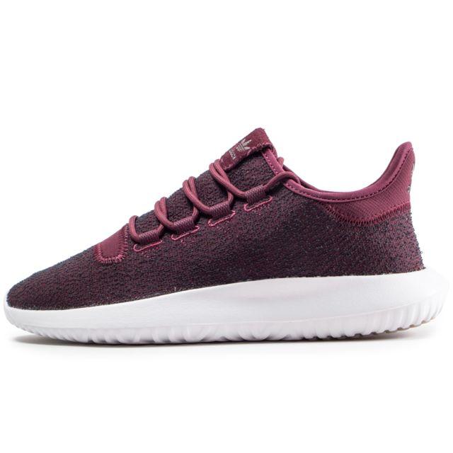 Adidas originals - Tubular Shadow Bordeaux Rouge - pas cher Achat / Vente Baskets homme - RueDuCommerce