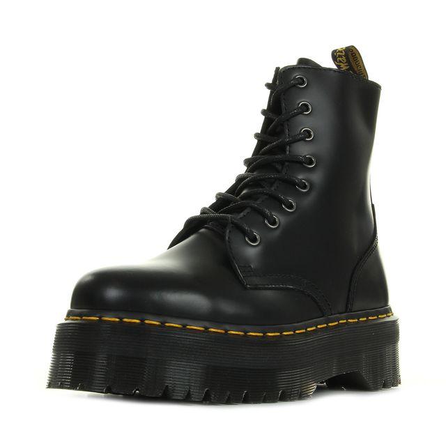 dr martens jadon black polished smooth noir pas cher achat vente bottes femme rueducommerce. Black Bedroom Furniture Sets. Home Design Ideas