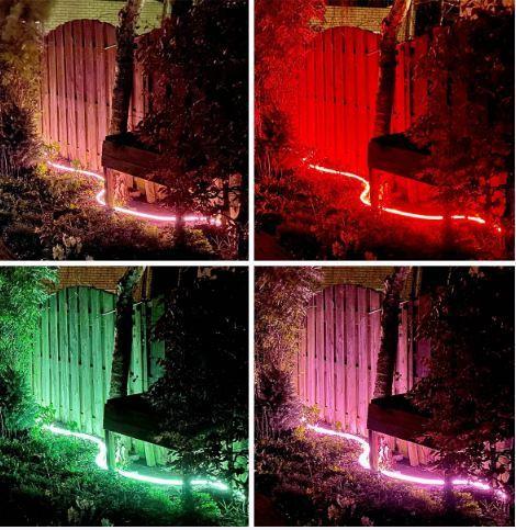 Ruban LED Flexible connecté de jardin - Blanc & Couleur - 4m