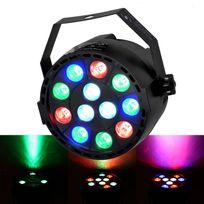 Flash - Jeu de lumière Par Mini à Leds Rgbw 12X3W Dmx + étrier de fixation