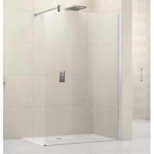 Novellini paroi de douche fixe lunes h 120cm transparent for Paroi de douche fixe pas cher