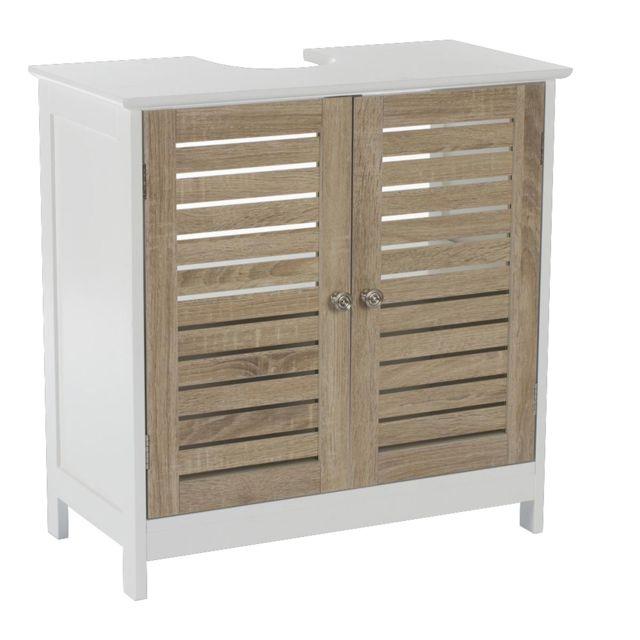instant d 39 o meuble dessous de lavabo blanc bois pas cher achat vente meuble bas salle de. Black Bedroom Furniture Sets. Home Design Ideas