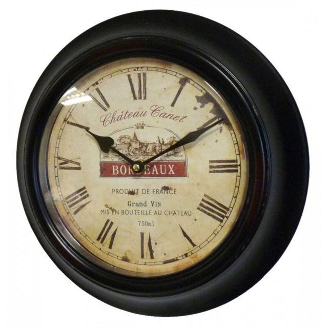 L Heritier Du Temps Horloge Murale En Fer Avec Vitre En