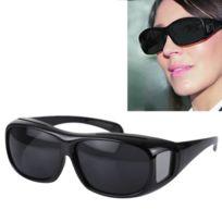 1eae6d3355 Wewoo - Lunettes de soleil anti-éblouissantes noires lentille de pour les  hommes / femmes
