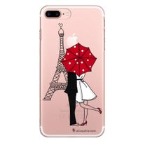 La Coque Francaise - Coque rigide transparent Amour à Paris pour iPhone 7 Plus