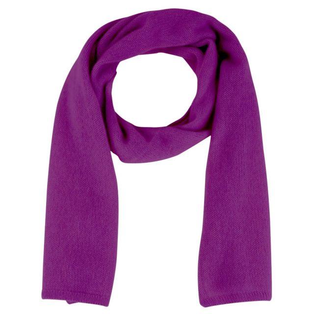 Les Poulettes Bijoux Echarpe 100% Cachemire 4 Fils 172 cm x 29cm Colors - Violet clair