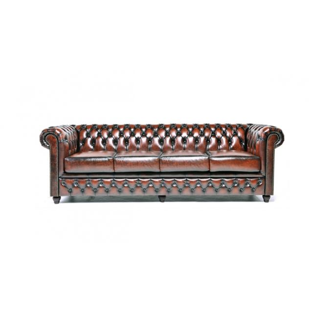 CHESTERFIELD Origine 4 places Antique Brun