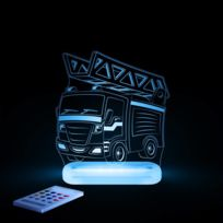 Aloka - Camion Pompier - Lampe-veilleuse Led H17cm
