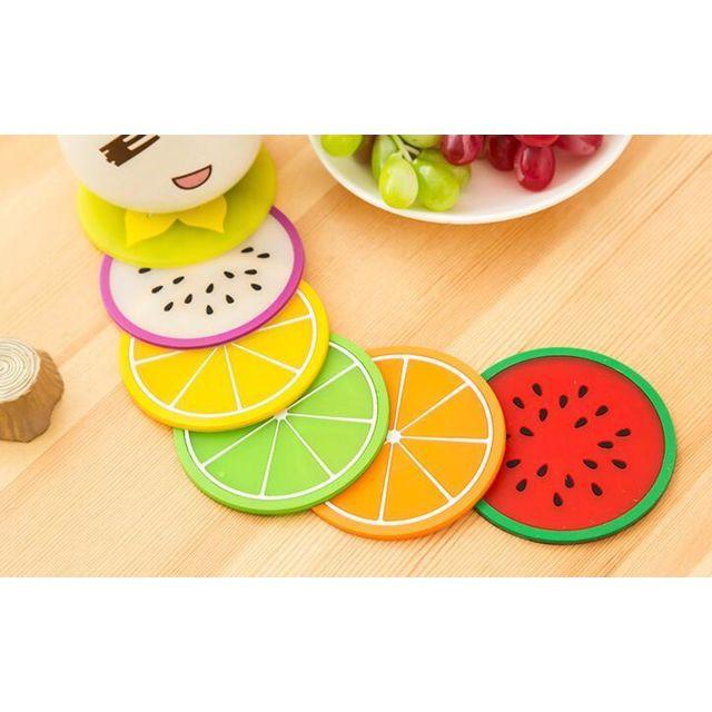 G-motions 12 X Sous Verre en silicone look fruit imperméable et résistant