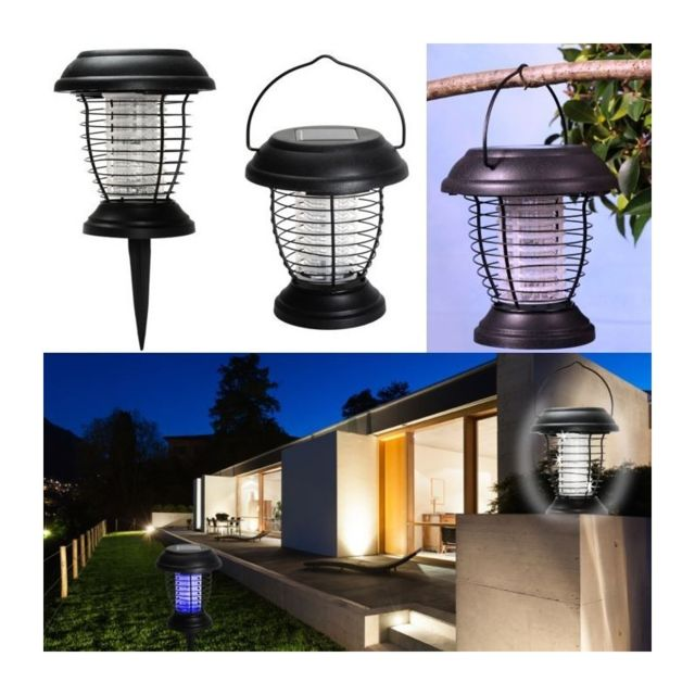 idmarket lanterne anti moustique nergie solaire 2 en 1 lampe anti insecte pas cher achat. Black Bedroom Furniture Sets. Home Design Ideas