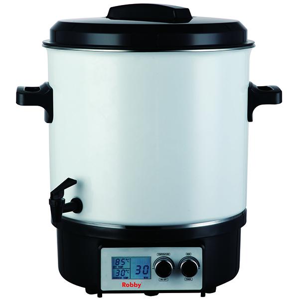 stérilisateur électrique avec robinet et minuteur 27l 1800w écran lcd - steri pro lcd