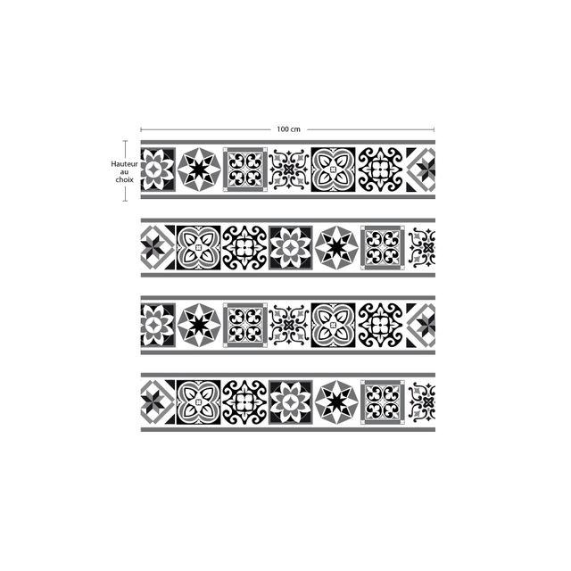 Cuisine Maison Stickers Carrelage Sticker Contremarche Famille Lot De 4 Stickers 1m X 15 Cm