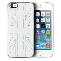 Qdos - Coque Housse Etui Smoothies Series, Metallics Uk Blanc pour iPhone 5/5S/SE