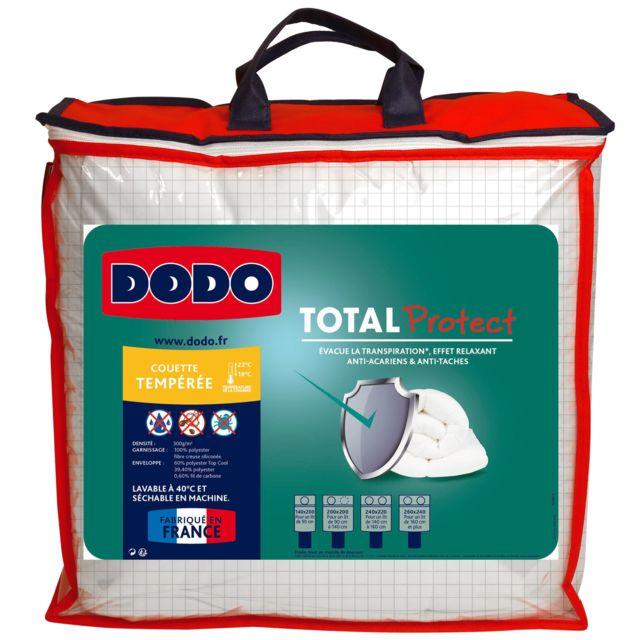 Dodo Couette Tempérée Total Protect 200x200cm Pas Cher Achat