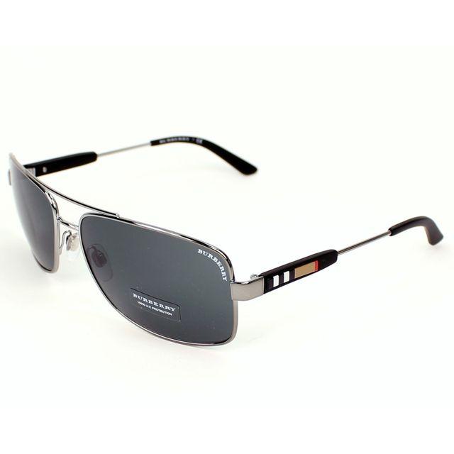 Burberry - Burberry - Be-3074 100387 Gunmetal - Noir - Lunettes de soleil 624d332cdd8a