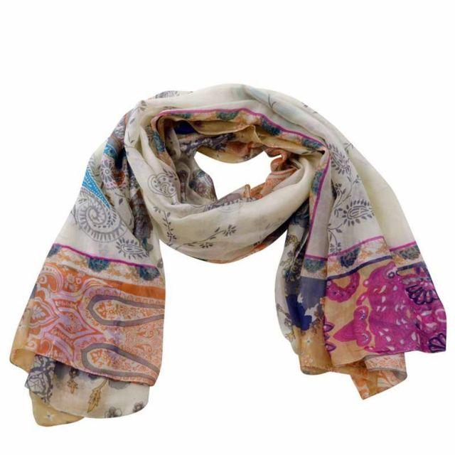Zen Ethic - Grande écharpe en soie Paisley - Soie - pas cher Achat   Vente  Echarpes, foulards - RueDuCommerce 453eddb750a