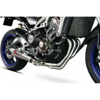Yamaha - Mt09-13/17-LIGNE Complete Silencieux Echappement Red Power Inox Brosse Scorpion -76005810
