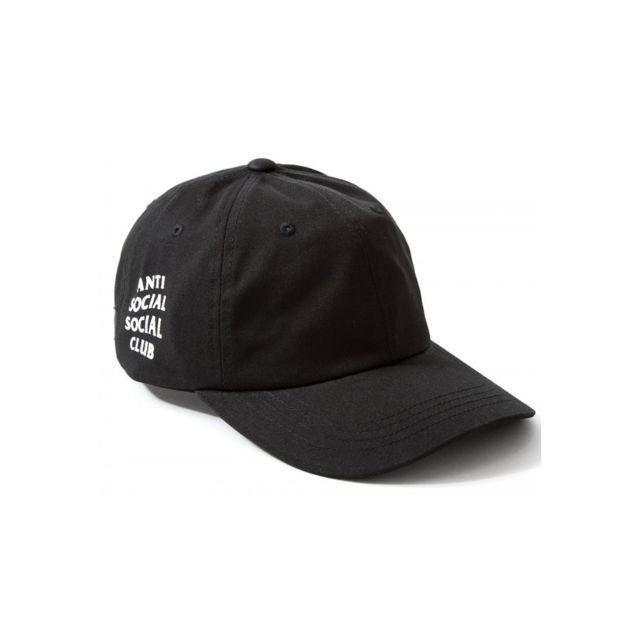 aa74e05b3d9a2 Magiccustom - Anti Social Club - Casquette Dad Hat Cap Black. Couleur   Noir