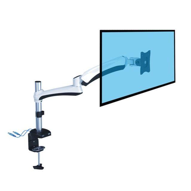 Kimex Support de bureau Full Motion 1 écran Pc 13''-27'' avec prises Usb