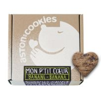 Aston'S Cookies - Biscuits Chien Mon P'tit Coeur Banane
