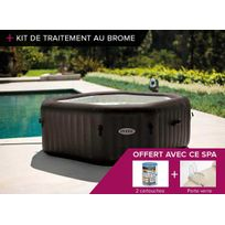 Intex - Spa gonflable PureSpa octogonal à jets 6 pl + Kit Brome
