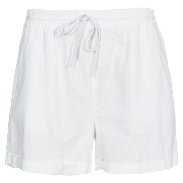 TRESPASS Short Belotti - Femme S, Blanc Uttp4032