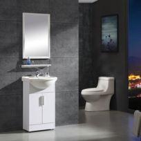 Ensemble de salle de bain avec meuble + vasque + robinetterie + bonde +  siphon +miroir