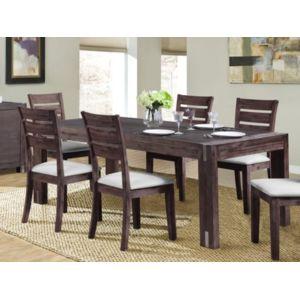 Vente unique table manger oakland 8 couverts bois - Table a manger carrefour ...
