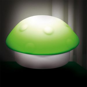 touslescadeaux lampe veilleuse enfant champignon vert rouge 11cm x 6cm x 11cm pas cher. Black Bedroom Furniture Sets. Home Design Ideas