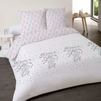 Housse De Couette 220x240 Erna Rose 2 Taies