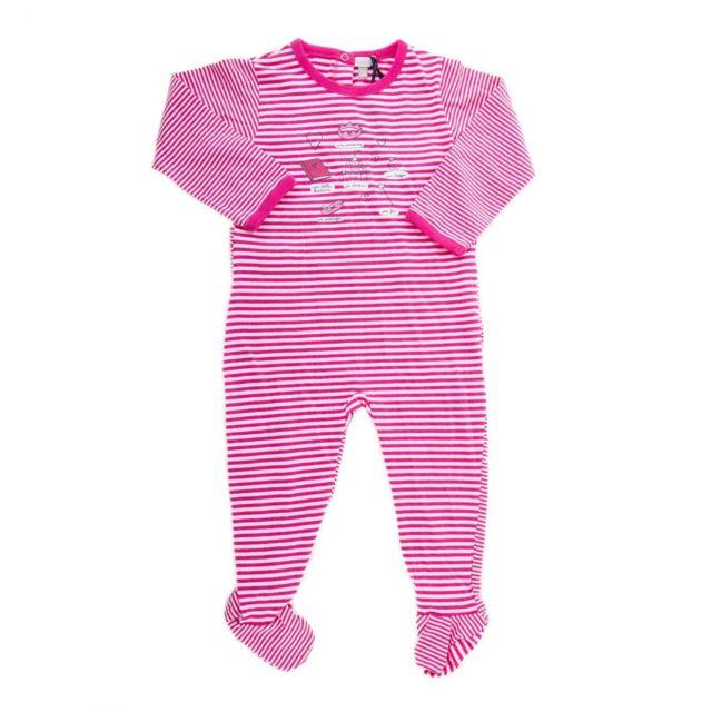 5973b578a488f Absorba - Pyjama à rayures blanches et roses bébé - pas cher Achat / Vente  Sous-vêtements, bodies - RueDuCommerce