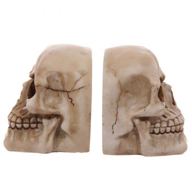 Puckator - Serre-livres tête de mort en forme de crânes Paire - pas ... d79403dfa2e