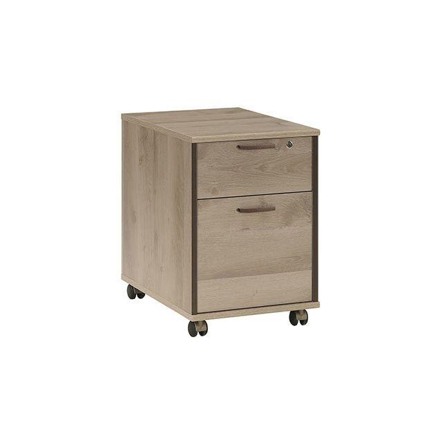 Caisson pour bureau 2 tiroirs naturel - Rafael