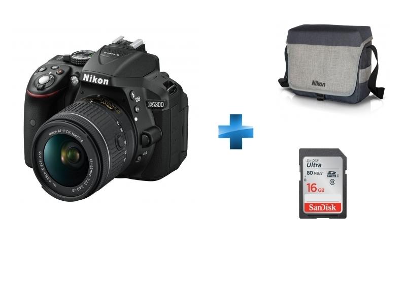 Appareil photo reflex - D5300 18-55 VR + Carte 16Go + Fourre-tout