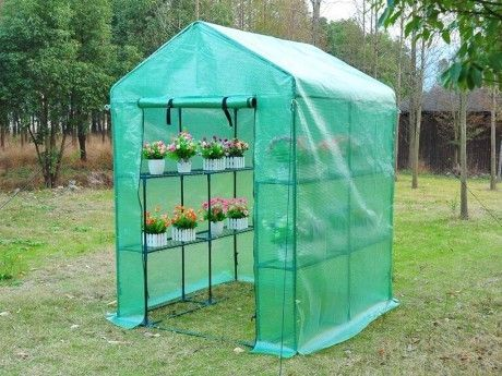 Marque generique mini serre souple de jardin avec structure en acier maripea 2m l143 x l143 - Serre de jardin carrefour ...