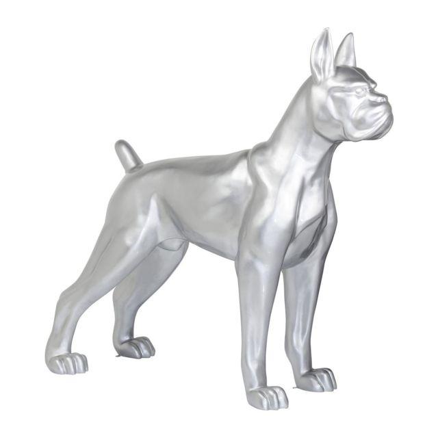 Karedesign Déco chien Toto Xxl argentée Kare Design
