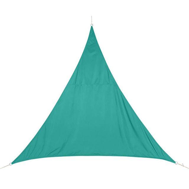 pegane voile d 39 ombrage triangulaire coloris meraude dim l 500 x l 500 x h 500 cm pas. Black Bedroom Furniture Sets. Home Design Ideas