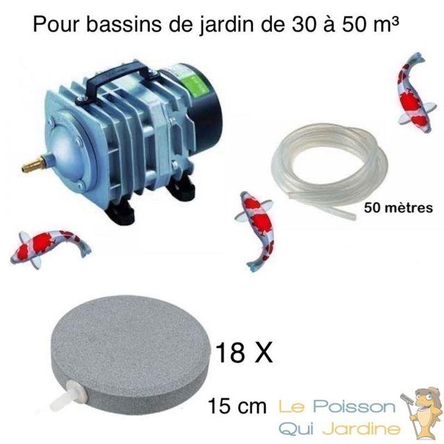 Le Poisson Qui Jardine Set aération bassin de jardin 18 disques 15 cm de 30000 à 50000 litres