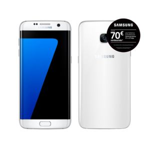 samsung galaxy s7 edge blanc pas cher achat vente smartphone classique android rueducommerce. Black Bedroom Furniture Sets. Home Design Ideas