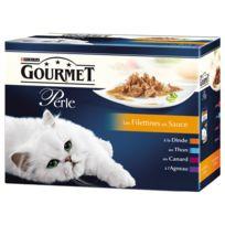Gourmet - Sachets Perle Les Filettines avec Viandes et Poissons pour Chat - 12x85g