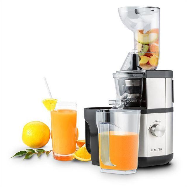 Klarstein Fruitberry Slow Juicer Entsafter : KLARSTEIN - Fruitberry Extracteur de jus Slow Juicer 400W 60T/min o 8,5cm -argent - pas cher ...
